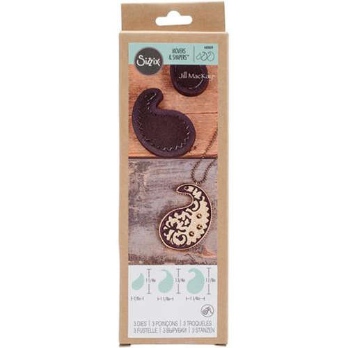 Sizzix Movers and Shapers Paisley Stack Magnetic Die Set by Jill MacKay - 660604