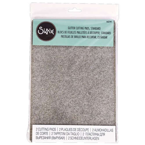 Sizzix Cutting Pads - Standard - Clear with Silver Glitter (2 Pack) - 662141
