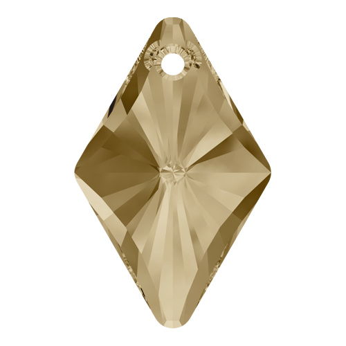 6320 - 27mm - Crystal Golden Shadow (001 GSHA) - Rhombus Crystal Pendant