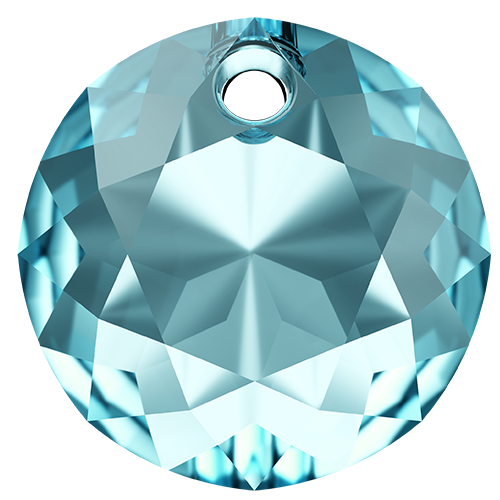 6430 - 14mm - Aquamarine (202) - Classic Cut Pendant