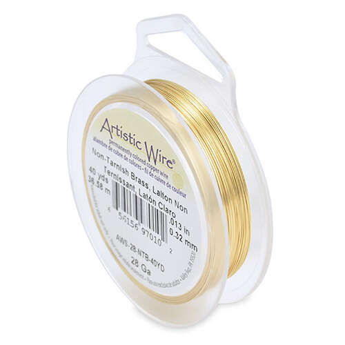 28 Gauge (.32 mm) - 40 yd (36.5 m) - Tarnish Resistant Brass - AWS-28-NTB-40YD