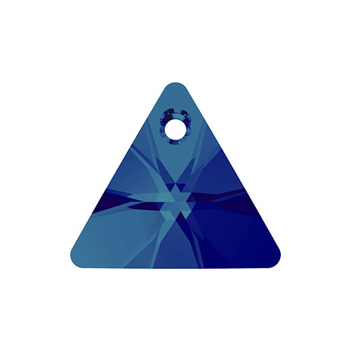 6628 - 12mm - Crystal Bermuda Blue P (001 BB) - Triangle Crystal Pendant