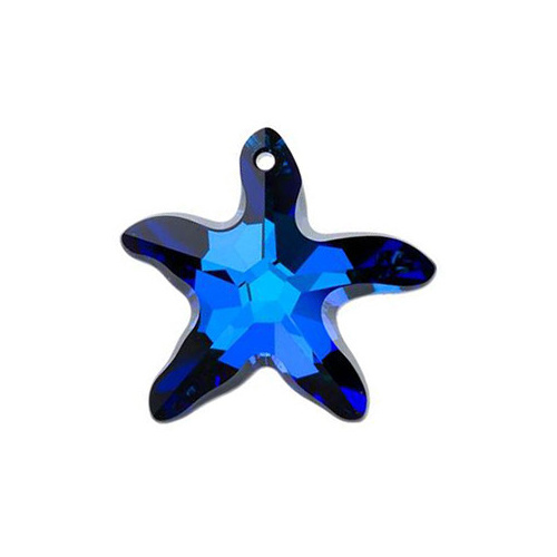 6721 - 16mm - Crystal Bermuda Blue (001 BB) - Star Fish Crystal Pendant