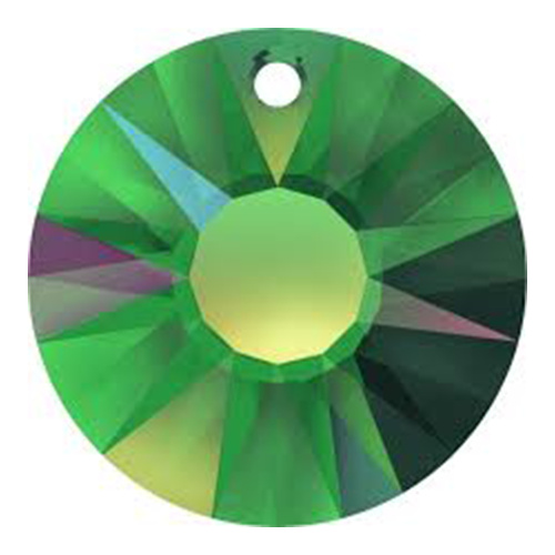 6724/G - 33mm - Crystal Vitrail Medium (001 VM) - Sun (Partially Frosted) Crystal Pendant