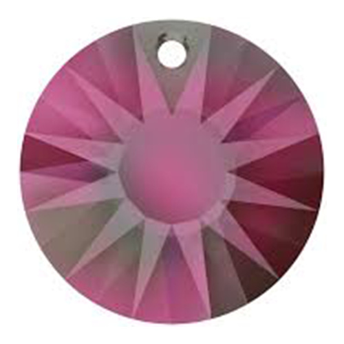6724/G - 33mm - Crystal Volcano (001 VOL) - Sun (Partially Frosted) Crystal Pendant