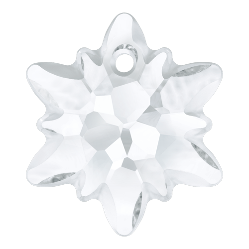 6748/G - 18mm - Crystal (001) - Edelweiss Crystal Pendant (Partially Frosted)