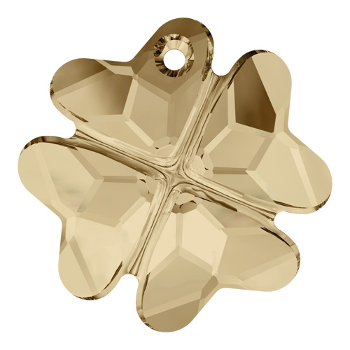 6764 - 23mm - Crystal Golden Shadow (001 GSHA) - Clover Crystal Pendant