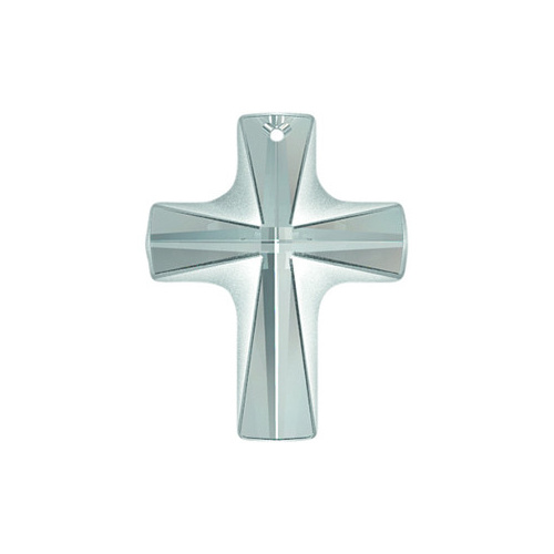 6860 - 12mm x 10mm - Crystal (001) - Frosted Cross Crystal Pendant