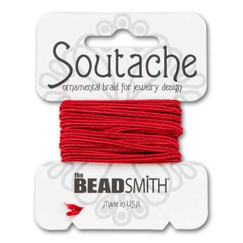 Soutache Rayon Cord - 3yd Card - Red