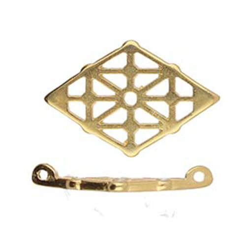Clima - Gemduo Connector - 24K Gold Plate - CYM-GD-012361-GP