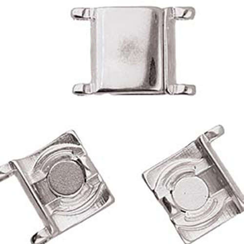 Axos - II/0 Delica Magnetic Clasp - Antique Silver Plate - CYM-D11-012443-SP