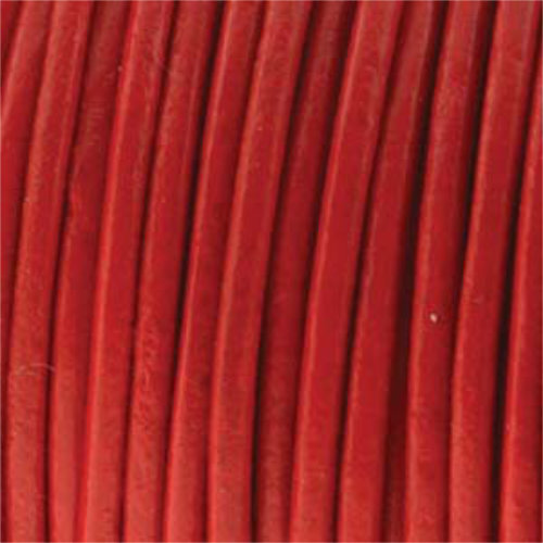 2mm Red Indian Leather - sold per 10cm centimetre increments