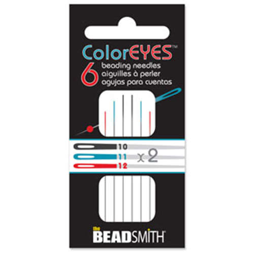 Color Eye - 6 Pack Beading Needles - BNCEASST6