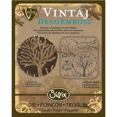 Sizzix DecoEmboss Die - Moonlit Night by Vintaj - V-657658