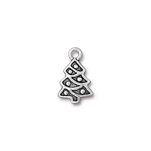 Christmas Tree Drop - Antique Silver