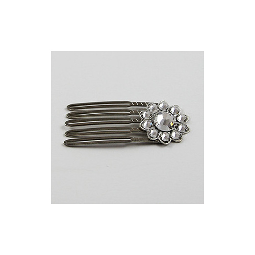 Swarovski Crystal Filagree Hair Comb - Crystal