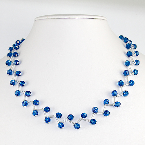 Rosemary Crystal Necklace - Swarovski© Crystal - Capri Blue