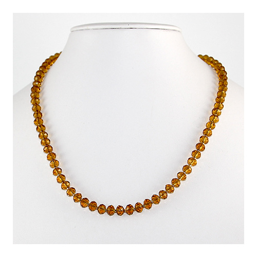 Topaz Glass Rondelle Necklace