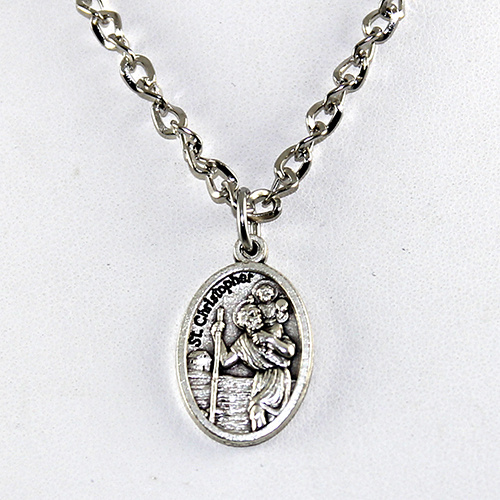St Christopher Pendant on Chain or Leather