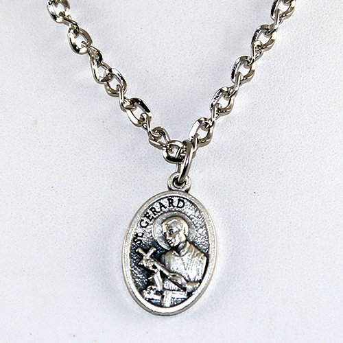 St Gerard Pendant on Chain or Leather