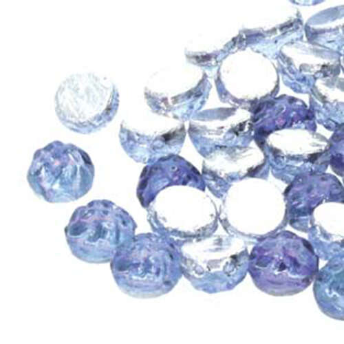 7mm Baroque Cabochon 2 Hole - Backlit Violet Ice - CCB0730010-26536