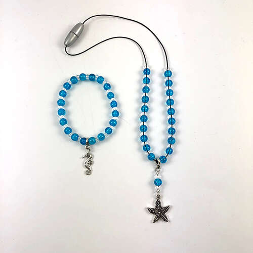 Childrens Necklace & Bracelet Kit - Starfish & Sea horse