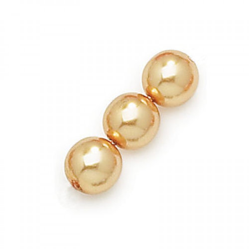 4mm Gold Czech Glass Pearl - 0486