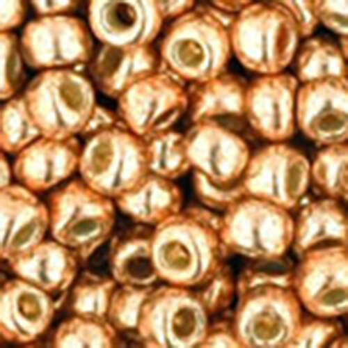 8/0 - PermaFinish - Galvanized Rose Gold - Round Seed Bead - TR-08-PF551