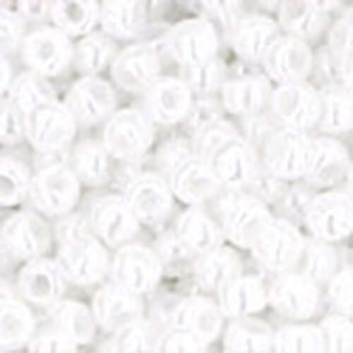 11/0 Round - Opaque-Lustered White - TR-11-121