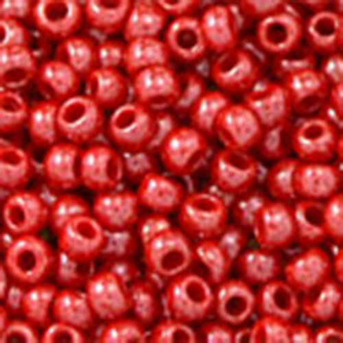 11/0 Round - Opaque-Lustered Cherry - TR-11-125