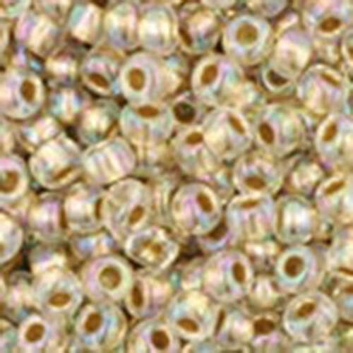 11/0 - Gold-Lined Rainbow Crystal - Round Seed Bead - TR-11-994