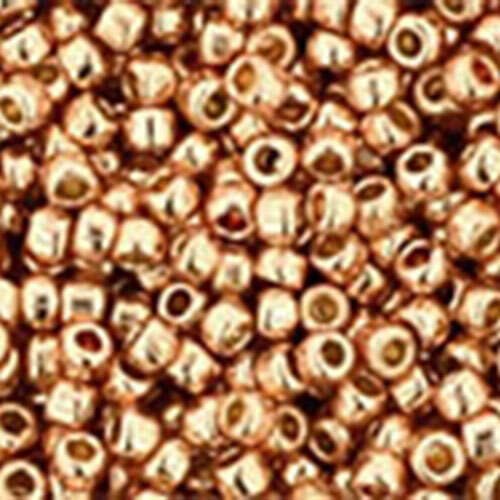 15/0 - PermaFinish - Galvanized Rose Gold - Round Seed Bead - TR-15-PF551